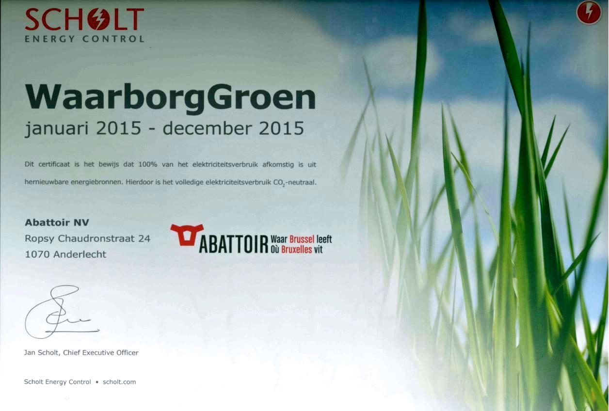 Abattoir ziet de toekomst in het groen abattoir for Scholt energy